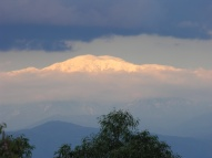 Baldy with snow across San Gabriel Valley